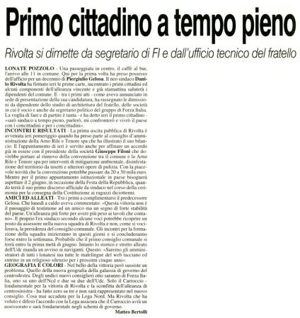 La Prealpina del 28 maggio 2014