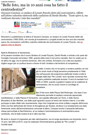 Varesenews del 28 maggio 2014