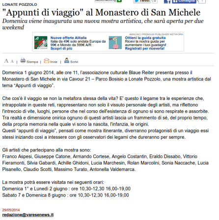 Varesenews del 29 maggio 2014