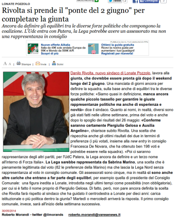 Varesenews del 30 maggio 2014