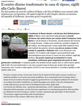 Varesenews del 31 maggio 2014