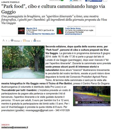 Varesenews del 3 giugno 2014