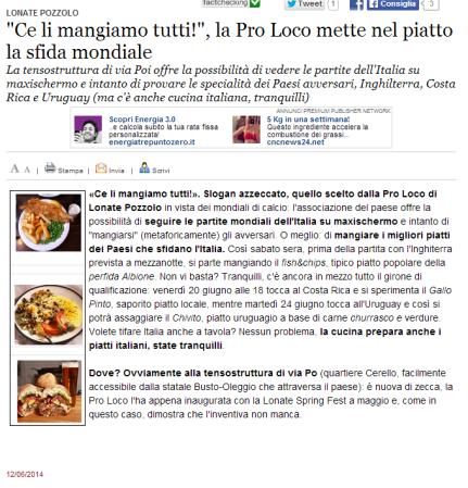 Varesenews del 12 giugno 2014