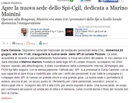 Varesenews del 20 giugno 2014