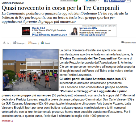 Varesenews del 23 giugno 2014