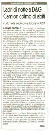 La Prealpina del 14 giugno 2014