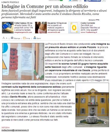 Varesenews del 3 luglio 2014
