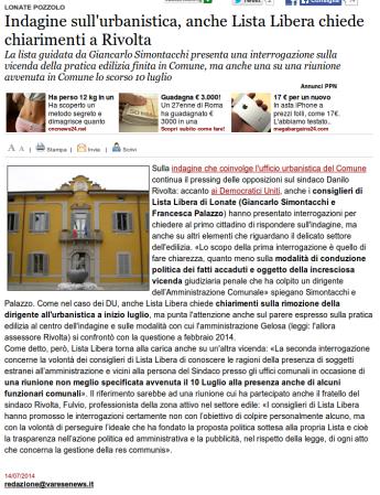 Varesenews del 14 luglio 2014