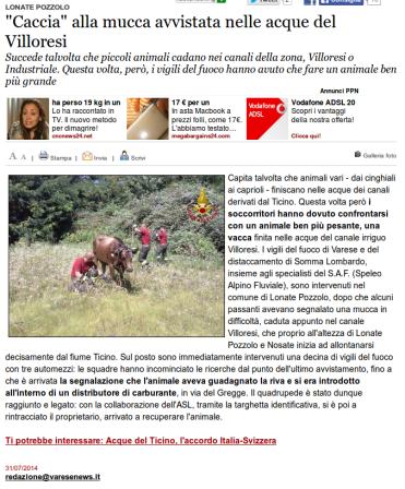 Varesenews del 31 luglio 2014