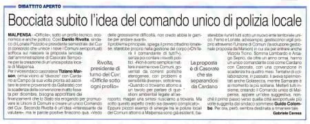 La Prealpina del 26 agosto 2014