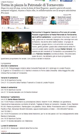 Varesenews del 1° settembre 2014