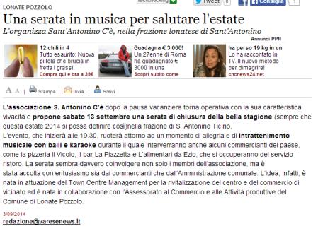 Varesenews del 3 settembre 2014