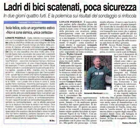 La Prealpina del 27 agosto 2014