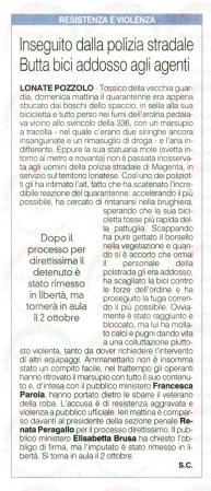 La Prealpina del 16 settembre 2014