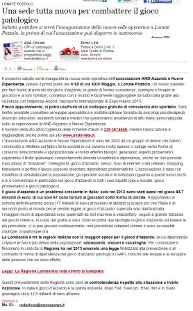 Varesenews del 29 settembre 2014