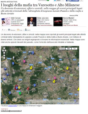 Varesenews - mappa mafie
