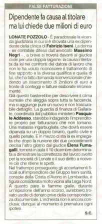 La Prealpina del 22 ottobre 2014
