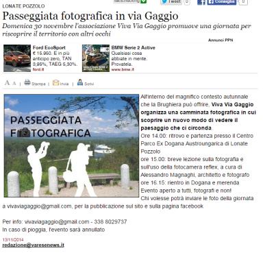 Varesenews del 13 novembre 2014