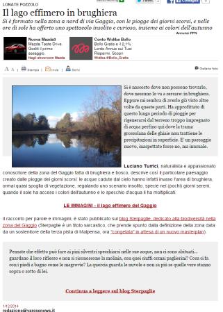 Varesenews del 1° dicembre 2014