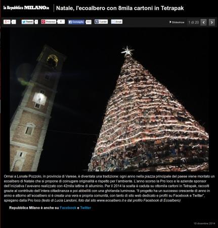 Repubblica.it Milano del 18 dicembre 2014