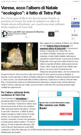 Milano Fanpage.it del 19 dicembre 2014
