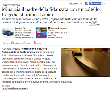 Varesenews del 6 gennaio 2015