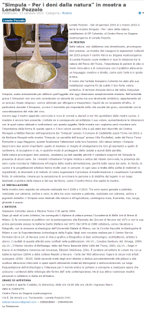 Assesempione del 13 gennaio 2015