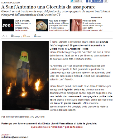 Varesenews del 28 gennaio 2015