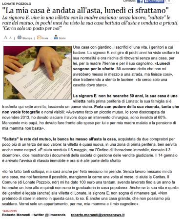 Varesenews del 14 febbraio 2015