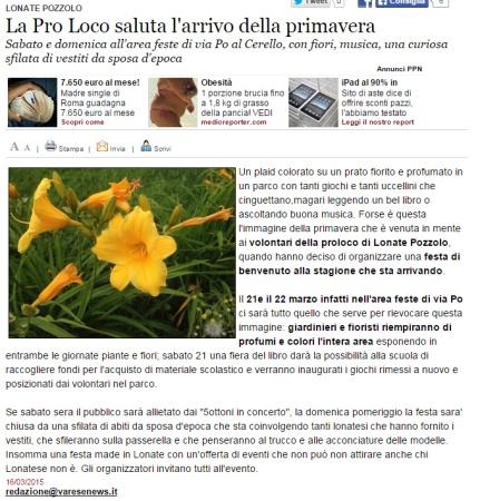Varesenews del 16 marzo 2015