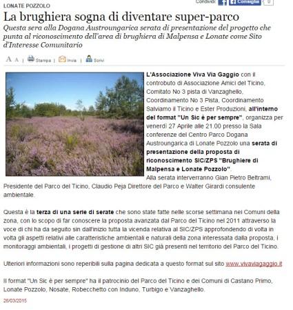 Varesenews del 26 marzo 2015