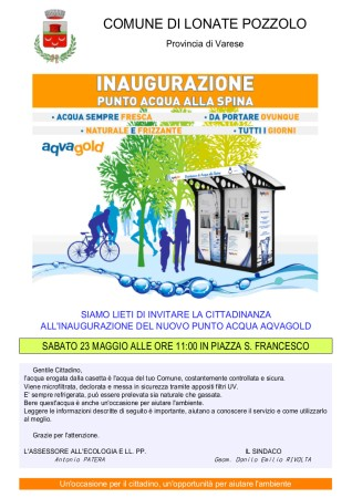 Inaugurazione casa dell'acqua