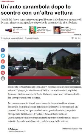 Varesenews del 27 giugno 2015