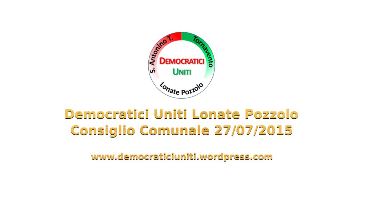 [Audio] Consiglio Comunale del27/07/2015
