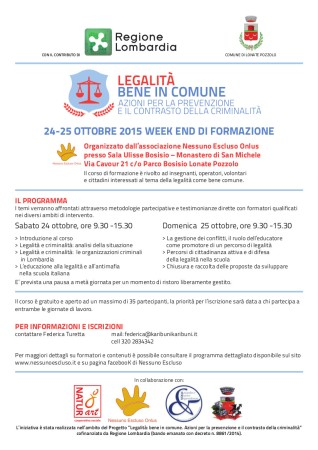 Legalità - Bene in comune