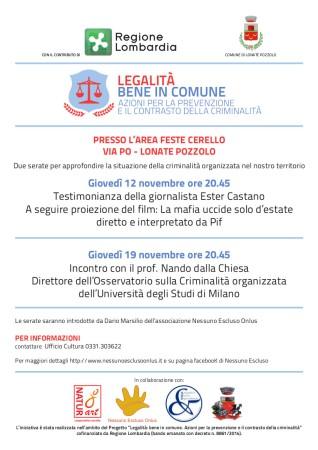 Programma legalità - novembre 2015