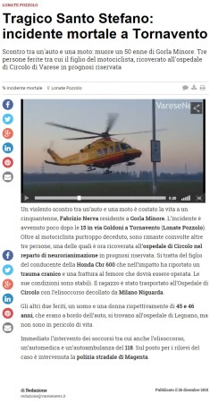 Varesenews del 26 dicembre 2015