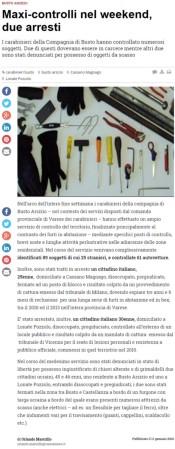 Varesenews del 11 gennaio 2016