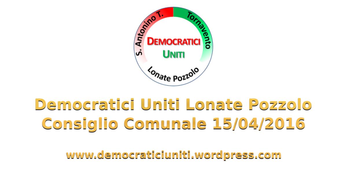 [Audio] Consiglio Comunale Urgente15-04-2016