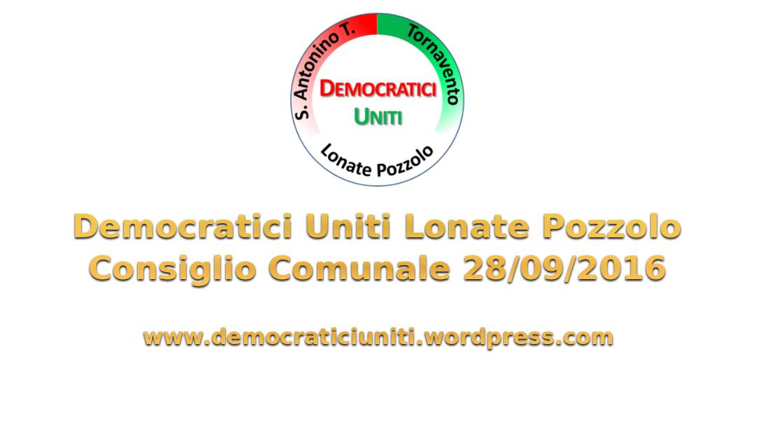 [Audio] Consiglio Comunale del28-09-2016