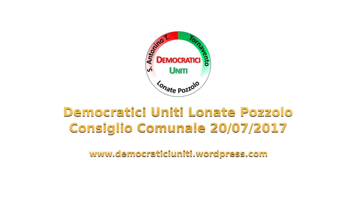 [Audio] Consiglio Comunale del20-07-2017